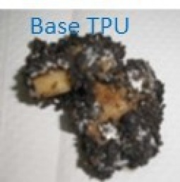 Base TPU sample recovered recovered after 6 months of the biodegradation test in soil at 58ºC