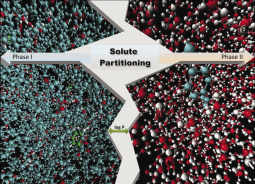 Calculation of partition coefficients using molecular dynamics simulations