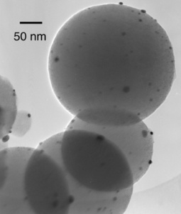 Pt nanoparticles on carbon nanospheres
