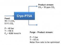 Blocks diagram for the Cryo-PTSA process