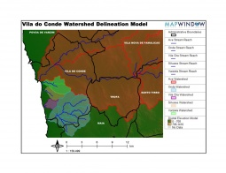 Watershed delineation model