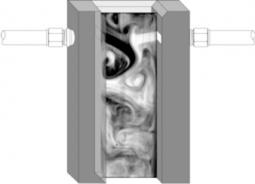 PLIF image of T-jets reactor