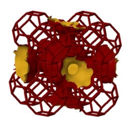 LTA zeolite unit cell structure
