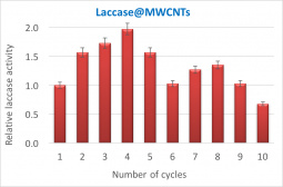 Operational stability of laccase immobilized over MWCNTs