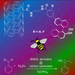 BINOL derivatives@CNT for diethyl zinc and titanium isopropoxide catalyzed alkylation of benzaldehyde